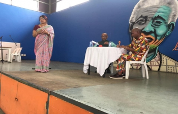 "SVCC in association with The Divine Life Society and Kwa-Zulu Natal Department of Arts and Culture organized an Inter-Cultural Get-together for Umlazi and Chatsworth residents to discuss ""Knowledge tradition of South Africa and India"" at Nelson Mandela Youth Centre, Chatsworth today in the Afternoon. (On the Occasion of Vasant Panchami)"